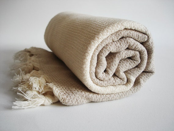 Turkish BATH Towel Peshtemal - Cotton Beige