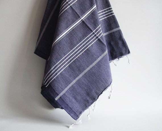 Turkish BATH Towel - Classic Peshtemal - Dark Blue