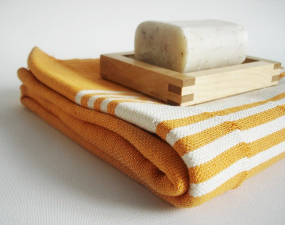 Turkish BATH Towel Handwoven Peshtemal - SOFT - Amber Color