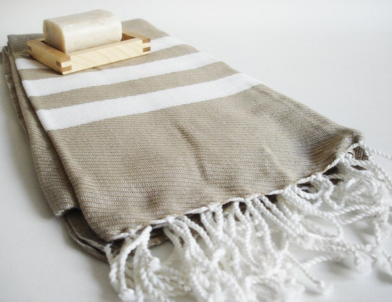 SALE // Turkish BATH Towel Peshtemal - Soil Color