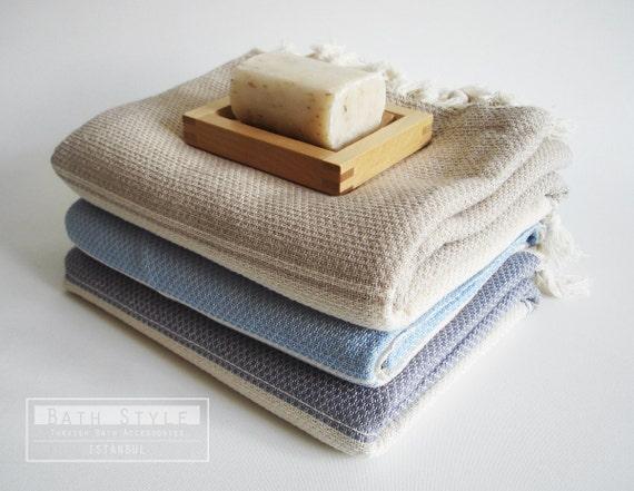 Turkish BATH Towel Peshtemal - Cotton Blue
