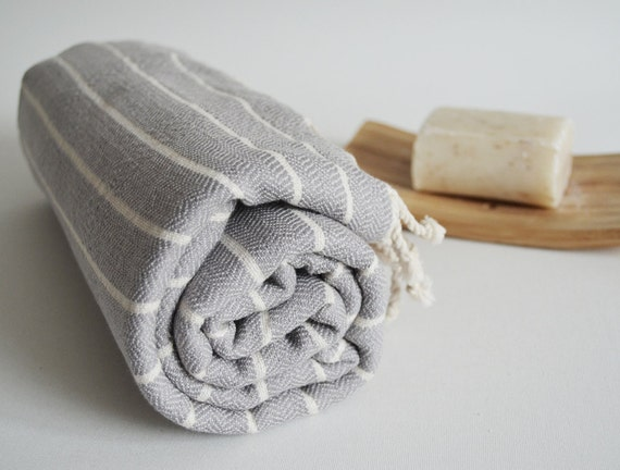 Turkish BATH Towel Peshtemal - SOFT Natural Cotton - Gray
