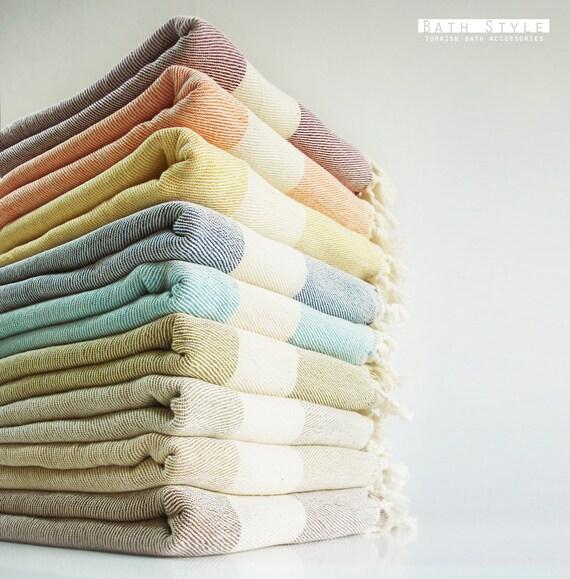 Bathstyle Turkish BATH Towel Peshtemal and Peshkir Set - SOFT - Blue