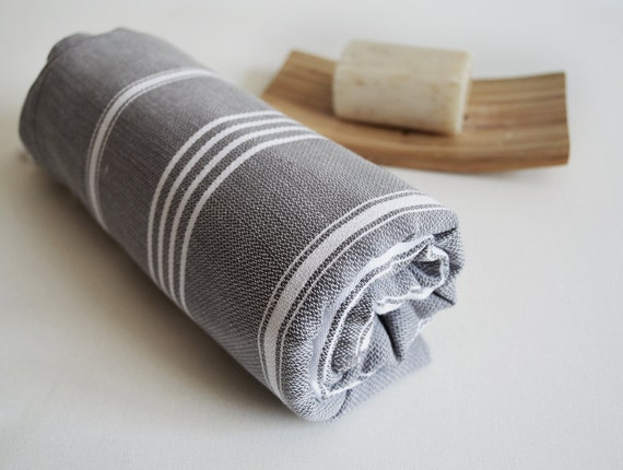 Turkish BATH Towel - Classic Peshtemal - Dark Gray