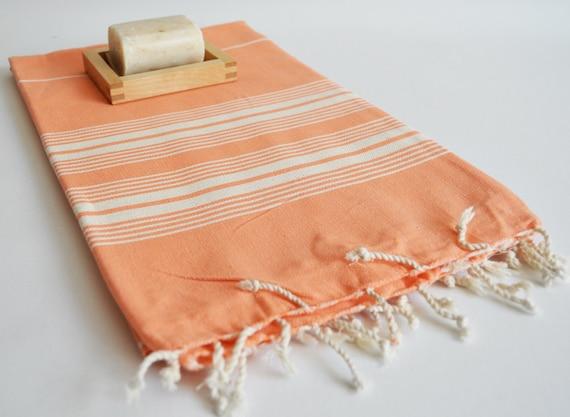 Turkish BATH Towel - Classic Peshtemal - Light coral