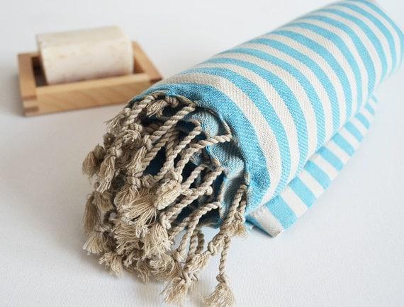Bathstyle Turkish BATH Towel Peshtemal - Blue No:2