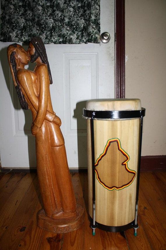 Handmade Funde Drum Rastafari Nyabhinghi