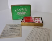 Vintage Canasta Set with ScorePad and Instructions