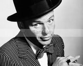 Frank Sinatra Handmade Counted Cross Stitch Pattern Black and White Vintage Retro PDF Hand Embroidery Needle Point