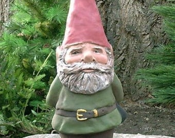 "Willard 14"" Hedgerow Garden Gnome (Green) Item R82G"