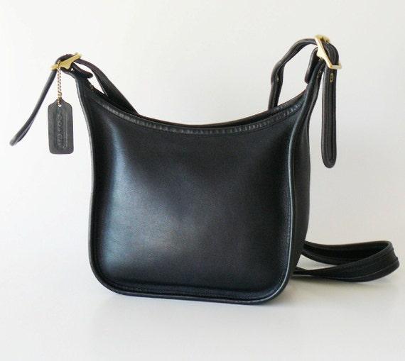 Authentic Classic Black Leather Coach Janices Legacy Shoulder Bag