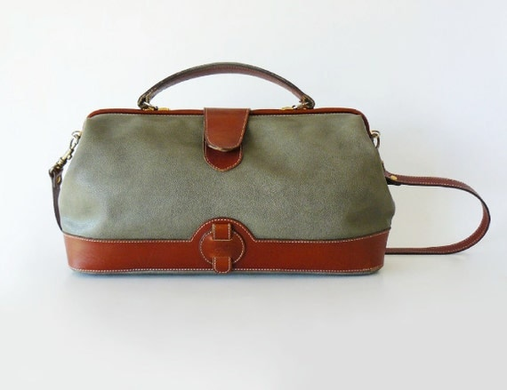 Authentic Vintage Courreges Doctor Bag Satchel Made in France