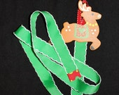 Reindeer Christmas Card Holder With Ribbon