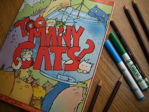 Too Many Cats -Coloring Book