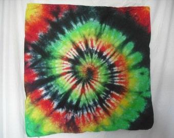 Tie Dye Rasta Design Bandana