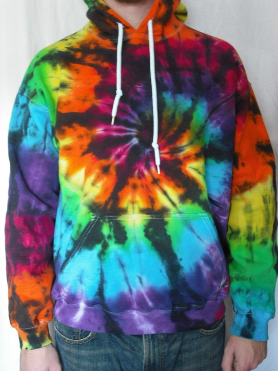 Tie Dye Hoodie, Color Interrupted- sizes Small through 3XL