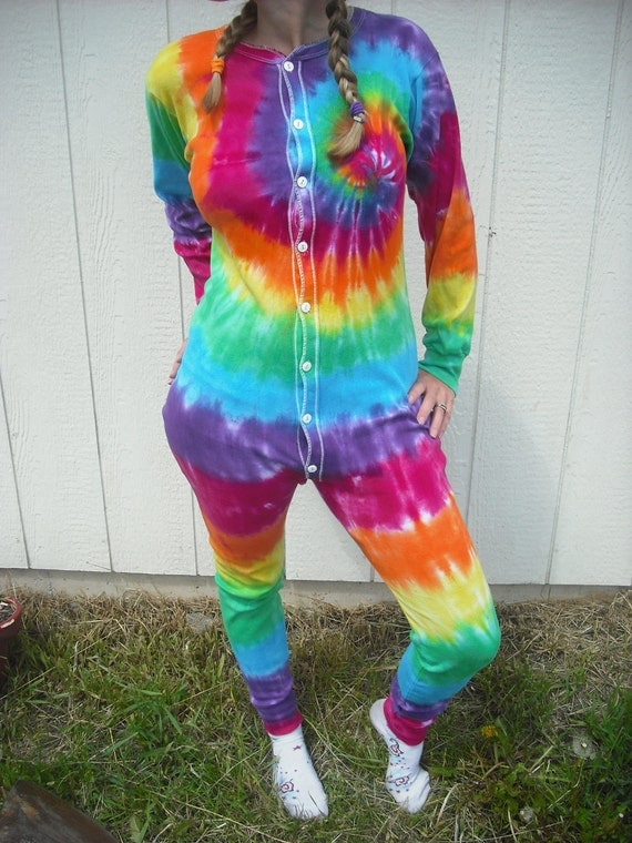 Tie dye Union Suit Adult Onsie- unisex sizes Small through 2XL ready to ship