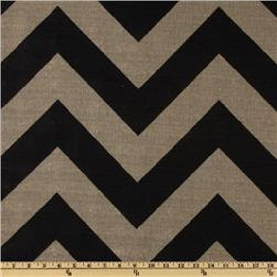 "Sale - Pair of 16""x16"" Decorative Black/Denton Chevron Pillow Cover"