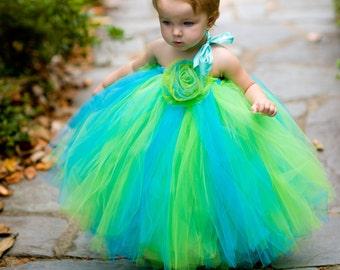 Full Length Tutu Rose Dress NB to 3t Choose Your Colors