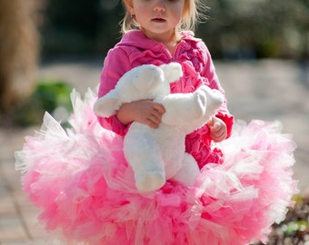 Toddler Beautiful Pink and White FLUFFY Petti Tutu Or Choose your Colors