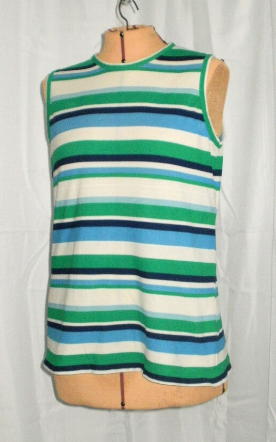 Vintage Top, Sleeveless Stripe