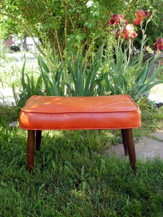 Retro Foot Stool Mid Century Modern