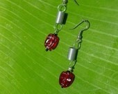 Red Buddha Faced Earrings