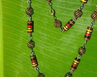 Electrical Sophistication Necklace - Upcycled Electronic Jewelry