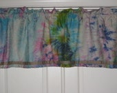 Beautiful Outrageous Tie-dye window valance