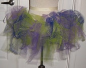 Ladies Adult hand made TUTU Sale Item purple, bright green, and blue