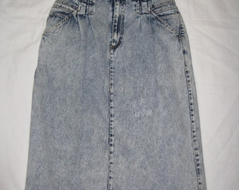 vintage high waisted blue jean skirt size 18 brand please thank you