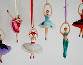 Nutcracker Ballerina Ornament Hand Sculpted in Clay