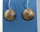 Stella Cut Brass Ornate Earrings