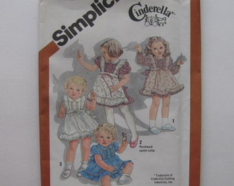 Simplicity 5257 Vintage 1980s Cinderella Toddler Dress Size 3 New Uncut