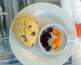 Natural & Organic Scottish Buttermilk Scones Orange Cranberry also Pick your Flavour (6 Count)