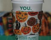 Pumpkins on White - Halloween Beverage Belt