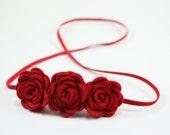 4th of july - Red Baby Girls Headband -  Felt Flower Headband - Baby Headband - Newborn Headband - Toddler Headband