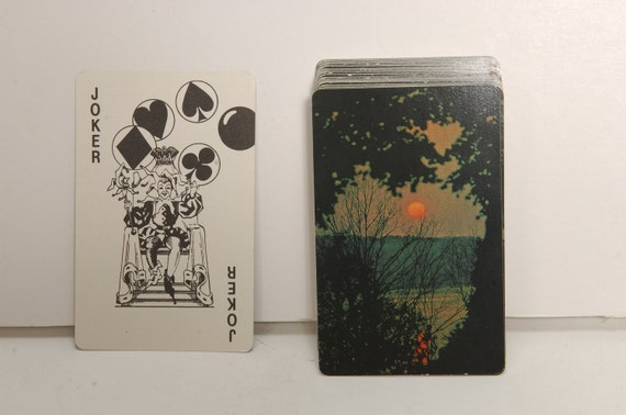 Vintage Sunset Photo Scenery Playing Cards Deck Trump Made in the USA