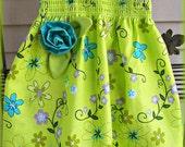 Toddler Girls Summer Halter Dress Birthday Sundress with Handmade Flower Tinkerbell