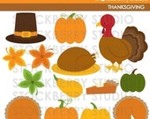 Thanksgiving  Personal and Commerical Use Clipart Set - INSTANT DOWNLOAD