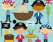 Pirate Personal and Commerical Use Vector Clipart Set - Instant Download