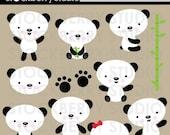 Panda Bear Clipart Set