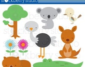 The Outback- Australian Animals Personal and Commecial Use Clipart - INSTANT DOWNLOAD