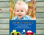 Transportation Invitation Printable - Boy 1st Birthday Party - Transportation Birthday Party - Truck Birthday Invitation - Car Birthday