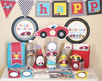 Race Car Party - Racing Birthday Decorations Printable - Instant Download - Racing Car Party - Boy Birthday Party - Race Car Birthday Party