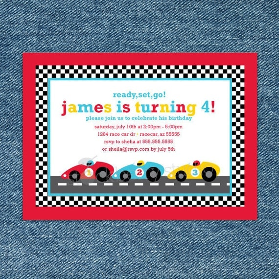 Race Car Birthday Invitation Printable Race Car 1st Birthday – Free Printable Race Car Birthday Invitations