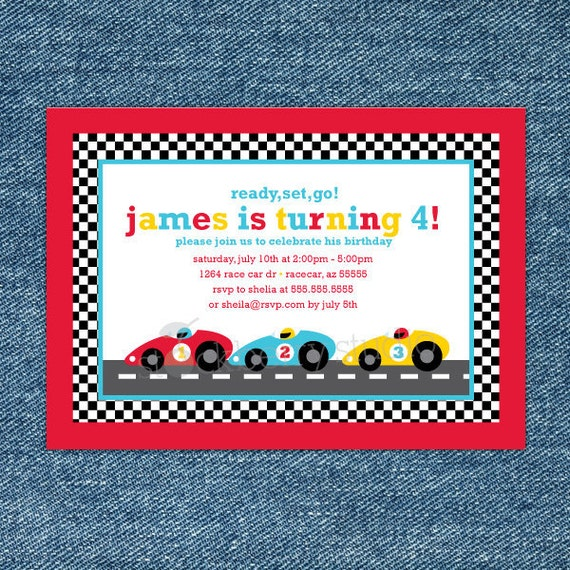 race car birthday invitation printable  race car party, Birthday invitations