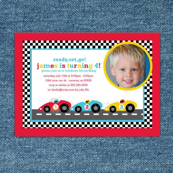 Race Car Birthday Invitation Printable - Race Car Party - Race Car Birthday Party - Race Car Invitation - Boy Birthday Invitation - Red Car