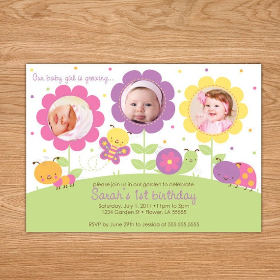 butterfly birthday invitation butterfly first birthday, Birthday invitations