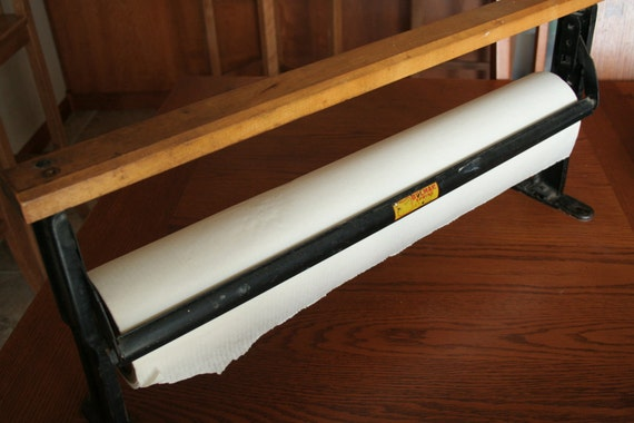 General Store Bulman Spring Paper Roller / Cutter - Comes with a 24 Inch Roll of Paper